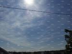 Sun Behind Fake Clouds